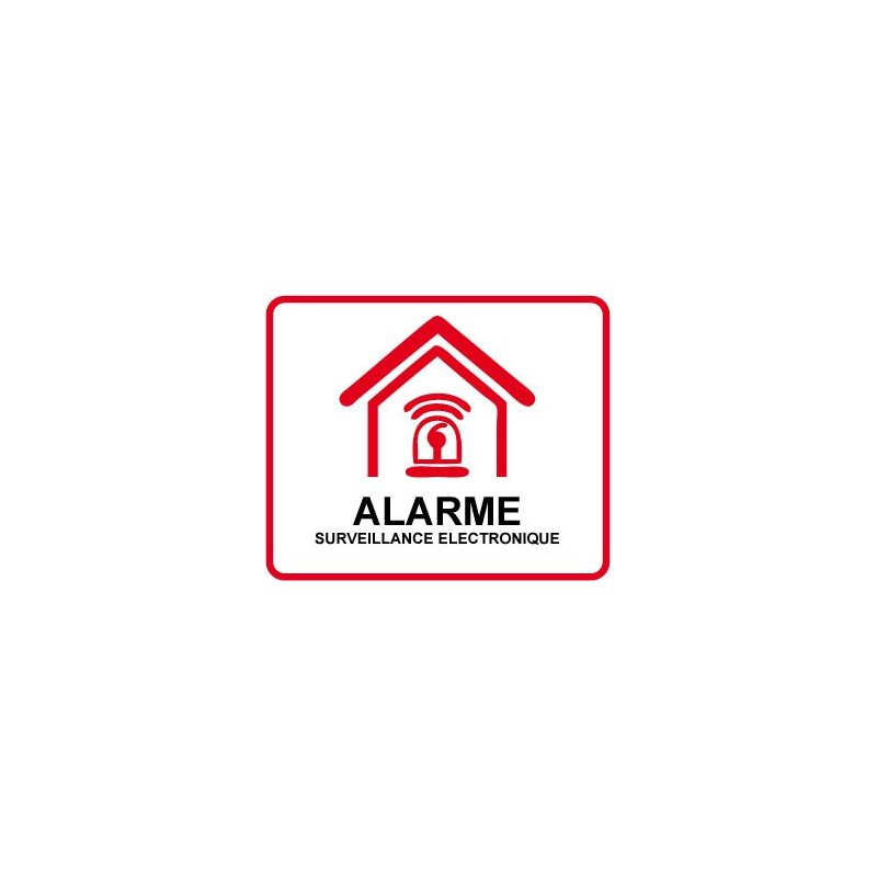 Autocollant alarme maison for Alarme maison securite good deal
