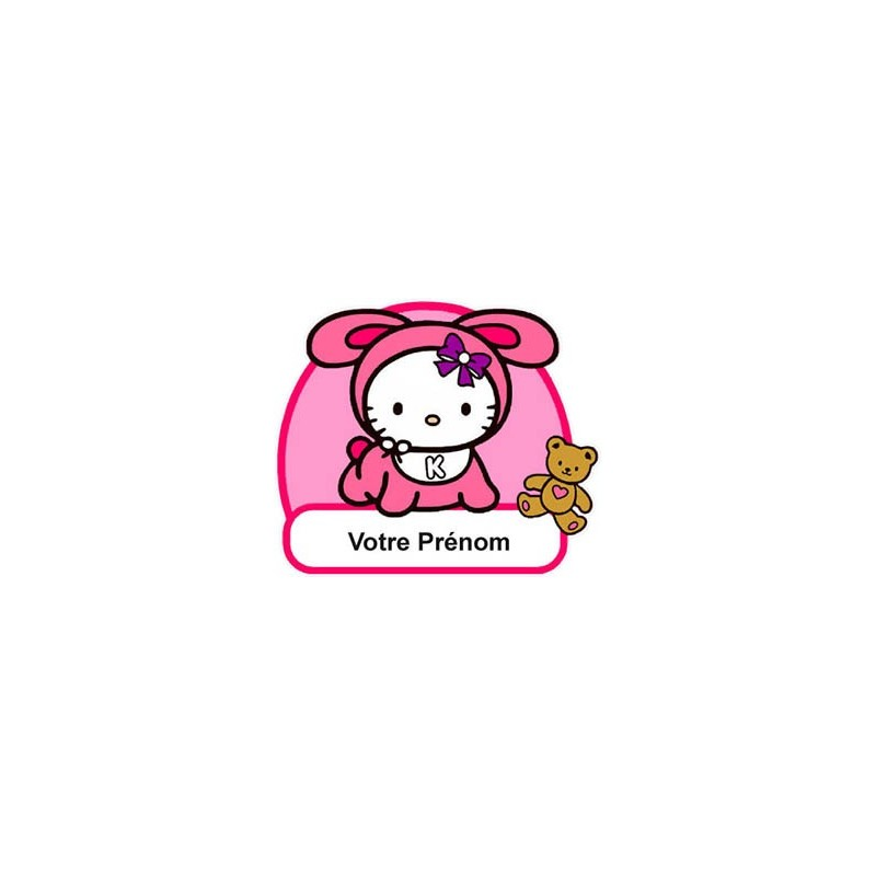 Stickers hello kitty chambre details about hello kitty sticker personnalis pr nom chambre enfant for Chambre enfant fille hello kitty